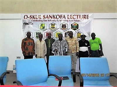 CEO of Ark Media Stephen Ato Eshun (R) with the speakers at the lecture