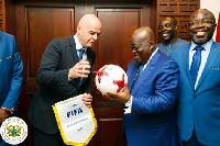President Akufo-Addo met with FIFA President Infantino