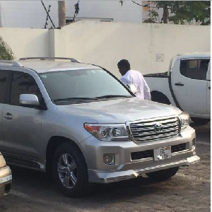 John Dumelo with his new car
