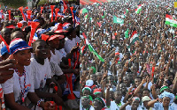File photo: NDC and NPP supporters