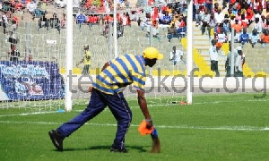 Hearts of Oak sweeping the field before a clash against Kotoko