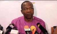 Affail Monney, President of Ghana Journalists Association (GJA)