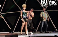 Yemi Alade in black outfit