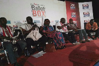 Speakers at the Joy Ballot Box programme