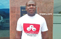 Elvis Darko was prevented from entering Parliament house in his branded T-shirt