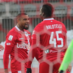 AC Monza forwards Balotelli and KP Boateng