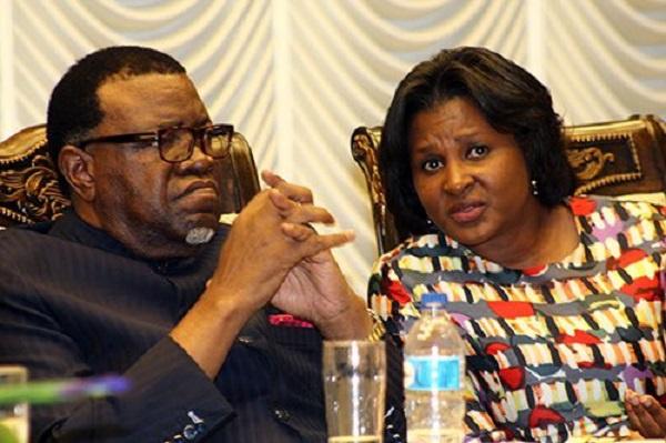 Namibia's President Hage Geingob and wife Monica Geingob