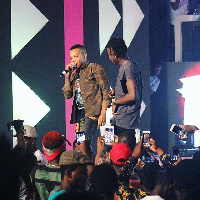 Stonebwoy and Tekno at BHIM-Nation Gh Rocks concert