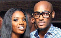 Annie Idibia poses with 2face Idibia
