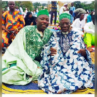 Yakubu Abdul Salam with Dad