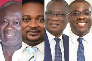 Jumah Kofi Maxwell, Pius Enam Fofo Hadzide Pius, Dr. Kofi Kodua Sarpong, and Sammy Awuku