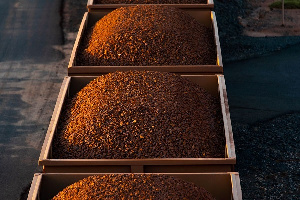 Ghana has an estimated 6 billion tonnes of iron ore reserves