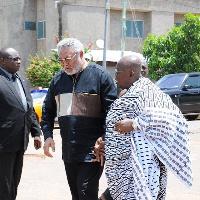 Former President Jerry John Rawlings and President Nana Akufo-Addo