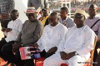Dr Mahamudu Bawumia, former President John Kufuor, Nana Akufo-Addo and Freddie Blay