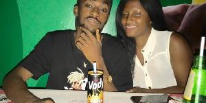 Anthony Dordoye with his deceased girlfriend Harriet Kafui Ahiati