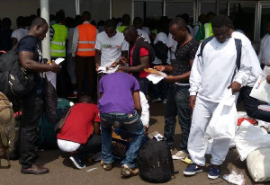 17 Ghanaian deportees were escorted by sixty 67 Police officers to Ghana