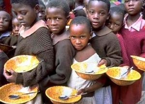 Starving African children