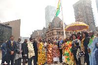Ghana's Consul General in Toronto raised the Ghana flag