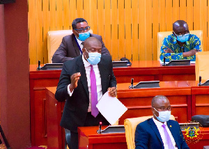 Member of Parliament for Ofoase Ayirebi, Kojo Oppong Nkrumah speaking on the floor of parliament
