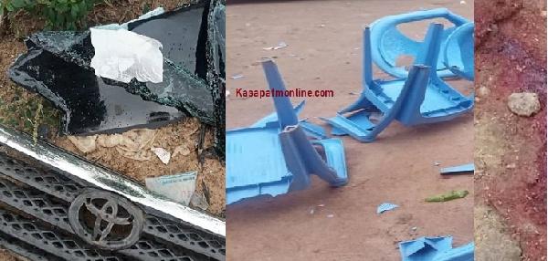 Gun shots at Kasoa Opeikuma, 3 injured, cars vandalised