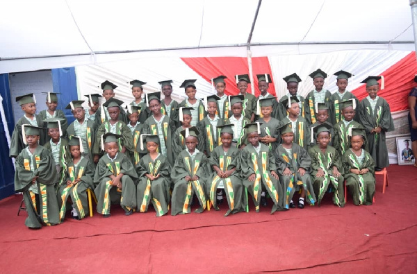 Pictures of graduands during the ceremony