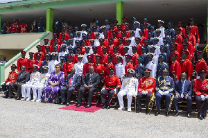 Mahama commissions 2015 Officer Cadet Corps
