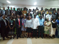 Attendees of the Green Business Forum in a group picture