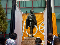 Relocated Gandhi's statute at the Kofi Annan ICT centre