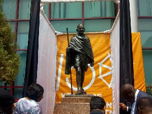 Relocated Ghandi Statue 1