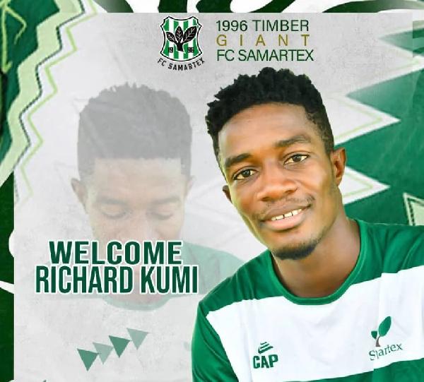 Division One side Samartex FC announce signing of striker Richard Kumi