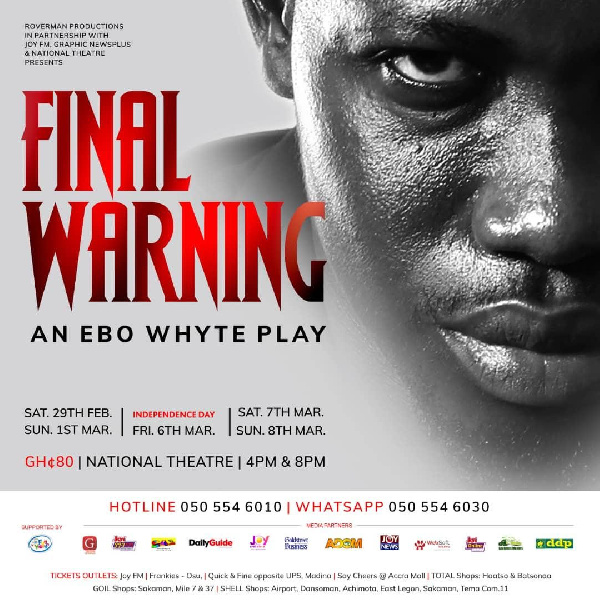 Roverman Productions set for \'Final Warning\' this March at National Theatre