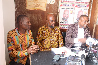 Dr. Henry Lartey(middle) with his running mate and his lawyer Maurice Ampaw