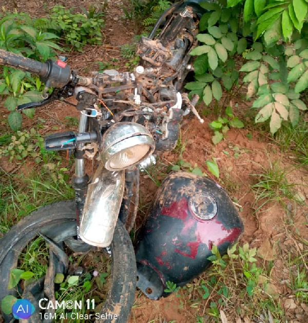Thighs of motor rider missing in fatal accident at Dawa Korlewa