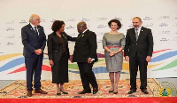 President Akufo-Addo with some representatives at the La Francophonie summit
