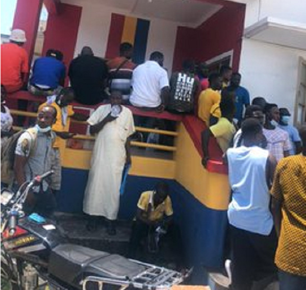 PHOTOS: Hearts of Oak fans storm secretariat to purchase tickets for Wydad clash