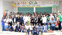 Members of Ghanaian Students in Korea and Associates (GHASKA) in a group photo