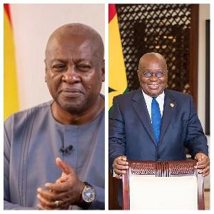 Former president, John Dramani Mahama and President Nana Addo Dankwa Akufo-Addo