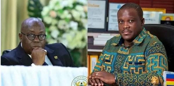 MP for for Ningo-Prampram, Sam Nartey George and Prez. Nana Addo Dankwa Akufo-Addo