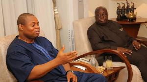President of Imani Africa, Franklin Cudjoe (left) with President Nana Akufo-Addo
