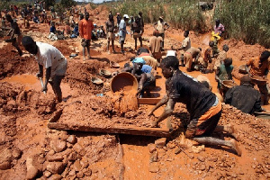 File Photo: A galamsey site