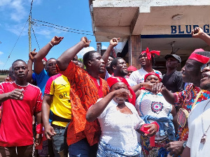 Some of the protesters at jamestown in Accra