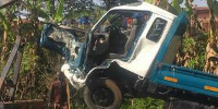 The KIA truck that was involved in the accident