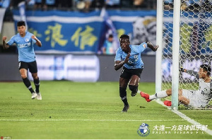 Emmanuel Boateng scored the winning goal for Dalian Yifang