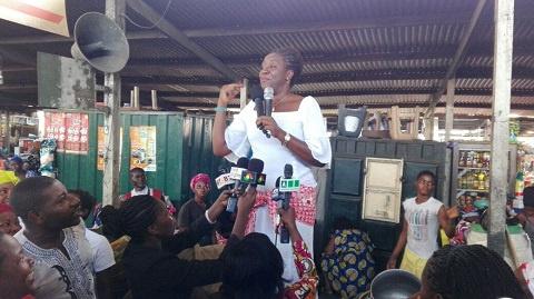 Brigitte Dzogbenuku visit Makola market