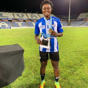 Ghana striker Princella Adubea