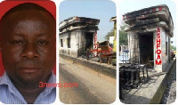 Mark Tetteh is accused of leading some NPP supporters to burn a tollbooth in Sunyani