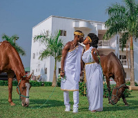 Okyeame Kwame and wife, Annica