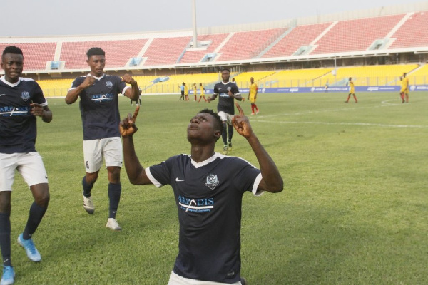 Striking prodigy Joseph Amoah hits brace for ambitious Accra Lions to defeat Uncle T