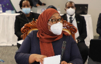 Samia Suluhu Hassan was sworn-in as the East African nation's new leader on Friday