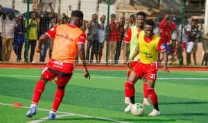 Asante Kotoko players at the training grounds